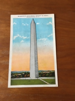 Postcard of the Washington Monument circa 1930's