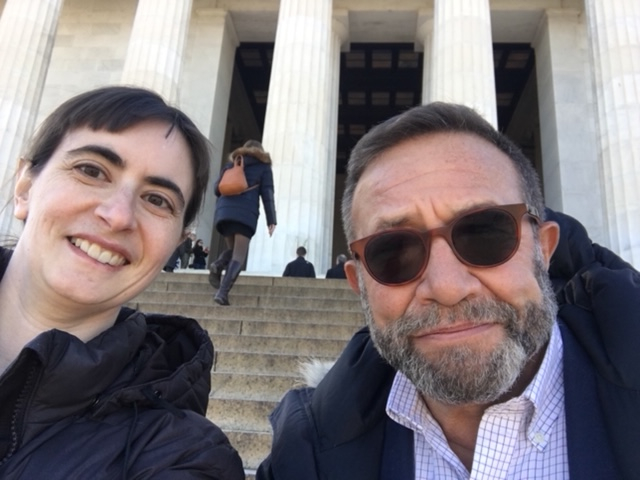 Susan Kusel and Neal Porter at the Lincoln Memorial